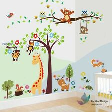 Woodland animals,owl,Teddy Bear Nursery Baby Kid Wall Decal Sticker Art Mural
