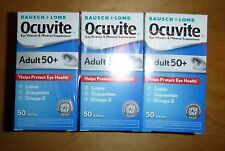 Lot of 3 Bausch + Lomb Ocuvite Adult 50+ Lutein Eye Vitamin 50 Soft Gels