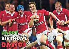 Wales Welsh Rugby cymru Six 6 Nations Happy Birthday PERSONALISED ART Card 2013