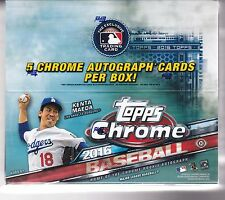 2016 Topps Chrome Baseball Jumbo Factory Sealed HTA Box