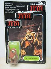 VINTAGE 1984 STAR WARS TRI-LOGO WICKET W WARRICK EWOK MINT ON SEALED CARD MOC