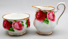 ROYAL ALBERT OLD ENGLISH ROSE CREAM PITCHER  AND SUGAR BOWL