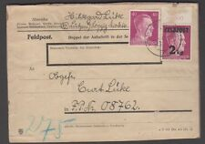 Germany Nov 24 1944 2kg surcharged Hitler Feldpost on complete card, Michel 3