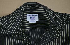 TM Lewin black & yellow cotton shirt size 15 1/2 single cuff Jermyn Street 15.5
