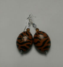 Animal brown /black  bead, silver plated, bicone glass bead, 24mm, acrylic(63)