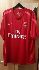 Arsenal Nike Dri-Fit pre coincide con parte superior en rojo para hombre XL Tamaño