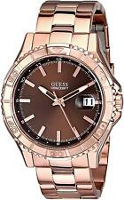 GUESS Classic Rose Gold-Tone Brown Dial Men's Watch U0244G6