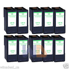 10PK Lexmark 32 33 Ink Cartridge For X3330 X5250 X5450 X3350 X5270 X5470 Printer