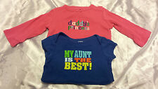 """CARTER'S """"My Aunt is the Best"""" & """"Daddy's Princess"""" One-Pieces - 12 MTHS (GIRLS)"""