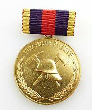 #e5418 Medaille für treue Dienste bei der freiwilligen Feuerwehr in Gold