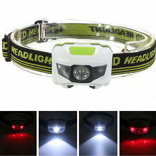 300LM 2LED 4 Modes Super Bright Mini Headlight Headlamp Flashlight Torch Light