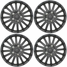 "Lightning Black 15"" Car Wheel Trims Hub Caps Plastic Covers Universal (4Pcs)"