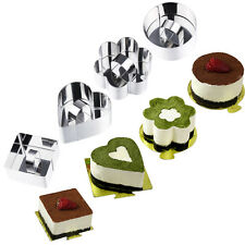 4Pcs Stainless Steel Mousse Cake Ring Mold Layer Slicer Cookie Cutter DIY Baking