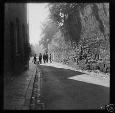 Glass Magic Lantern Slide STRATFORD UPON AVON TO SCHOOL C1910 ENGLAND