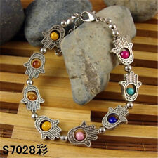 HOT Free shipping New Tibet silver multicolor jade turquoise bead bracelet S62B