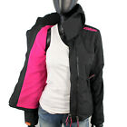 Superdry Damen Arctic Polar WINDCHEATER Jacke XS S M L XL Fleece BLACK Pink S1