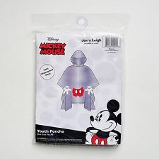 Disney - Mickey Mouse - Mickey Body Parts Youth Hooded Clear Rain Poncho