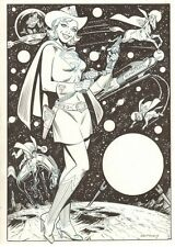 Supergirl Cowgirl w Superman, Super-Horse, Supercat - Signed art by Jim Mooney