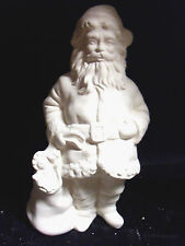 """Ceramic Bisque Santa with Bag 7"""" Ready to Paint"""