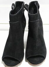 BLK901250 Vince Camuto Camey Black Suede Leather Ankle Peep Toe Booties US 7.5M
