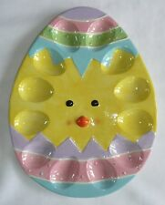 "Burton & Burton Ceramic Chick Easter Egg Holder 1""x 9.75"" x 12.75"" 1505156  NEW"