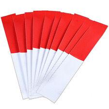 5x Aufkleber Rot-Weiß Sicherheit Warnung Nacht Reflektor Aufkleber Sticker DODE