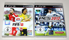 2 PLAYSTATION 3 giochi Set-FIFA 12 & PES PRO EVOLUTION SOCCER 2012-ps3