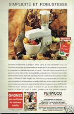 Publicité advertising 1995 Robot de Cuisine Kenwood