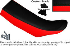 BLACK & RED CUSTOM FITS KTM GS 600 LC4 DUAL LEATHER SEAT COVER ONLY