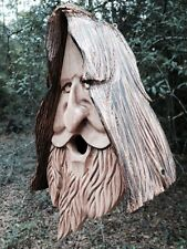 Hand Carved Western Red Cedar Birdhouse. Happy