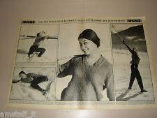 FRANCE NUYEN megeve francia clipping ritaglio articolo foto fotografia 1959