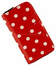 Rockabilly 50s Vintage Large RED POLKA DOT Ladies Wallet ~ Purse Retro Pinup