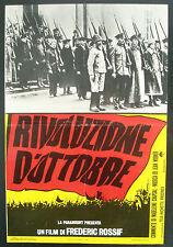 CINEMA-fotobusta RIVOLUZIONE D'OTTOBRE - FEDERIC ROSSIF
