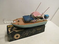 SPORT FISHERMAN WITH BATTERY POWERED OUTBOARD MOTOR ORIGINAL BOX NEAR MINT COND