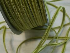 "1/8"" DOUBLE FACE VELVET RIBBON - 85% RAYON - MADE IN JAPAN -CHARTREUSE GREEN"