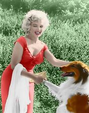 Marilyn Monroe -  Marilyn in a photo with Lassie ,1950's