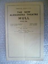 1936 New Alexandra Theatre Progra THE BLACKPOOL ARCADIAN FOLLIES in cararet show