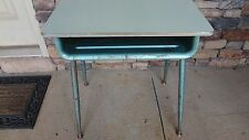 Vintage Industrial Mid Century Student School Steel Desk Child Play End Table