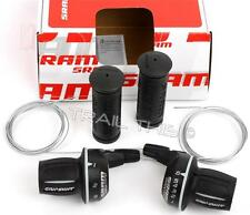 SRAM MRX COMP 3 x 6 18-Speed Bike Twist Shifter Set w/ Grips Cables fits Shimano