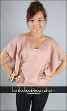 Love Bonito Bonitochico Knit Throwover Top in Dusty Pink