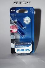 Philips W5W WHITE VISION 12961NBVB2 4300K  NEW 2017