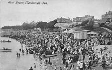 BF34498 west beach clacton on sea  uk front/back scan