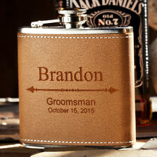 Personalized Groomsman Flask, Custom Engraved Wedding Gift, Bachelor Party Favor