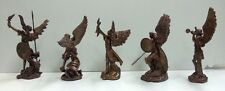 5 Archangels Set Uriel Remiel Raphael Michael Gabriel Mini Angel Figurines #ANG