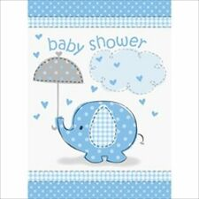 UMBRELLA ELEPHANT BOY INVITATIONS (8) ~Baby Shower Party Supplies Cards Invites