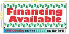 FINANCING AVAILABLE Banner Sign NEW Larger Size 4 Auto Used Car Lot Shop BAD OK