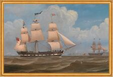 The English Merchant Ship Malabar William Clark Segelschiff Möwen B A1 03489