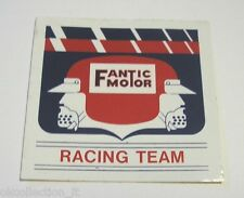 ADESIVO MOTO originale anni '80 / Old Sticker FANTIC MOTOR RACING TEAM (cm 8x8 )