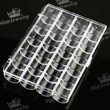 24 Grids Plastic Container Storage Box Case Compartment For Nail Art Tips Beads