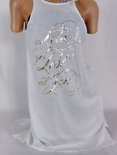 SMALL Victoria Secret  Sexy White Shirt Dress LETS GET LOST AT TEA  $39  NWT